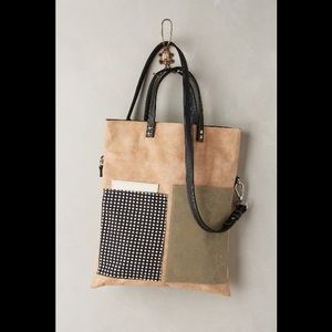 Anthro   Kassiopea Lowland Leather Pocket Tote Bag